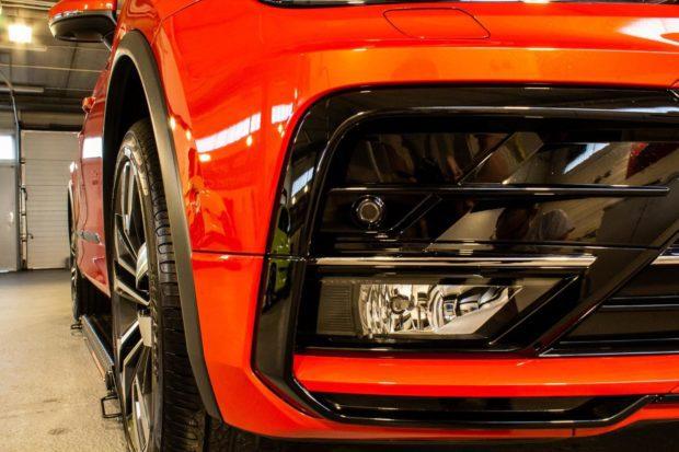 Ruční mytí aut - detail